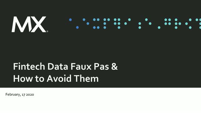 Four Fintech Data Faux Pas and How to Avoid Them